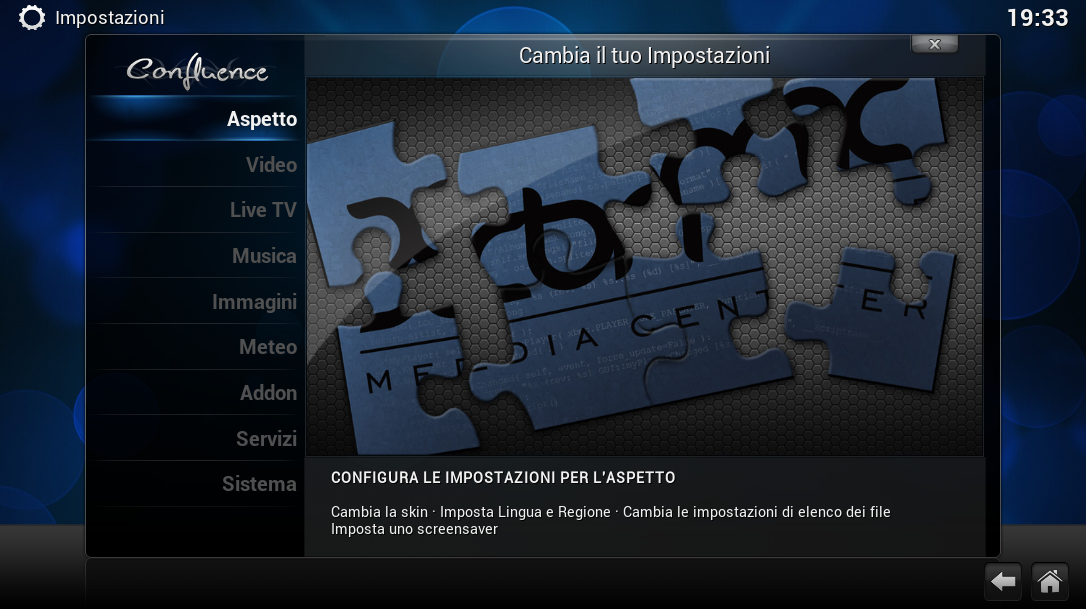 XBMC Sistema